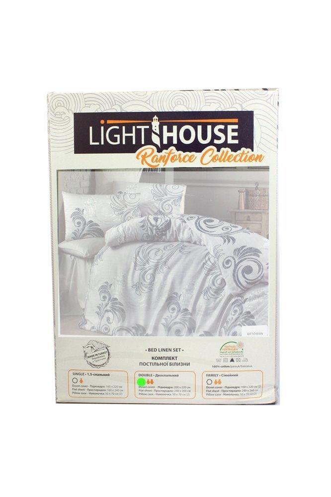 Постільна білизна Light House ranforce ATLAS зелений  ціна 9d39a12c38db7